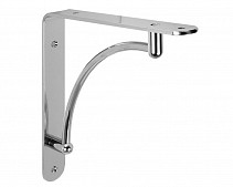 decorative , polished chrome - bracket